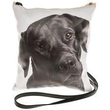 Visage Black Labradoor Dog Bag Flat Shoulder Bag