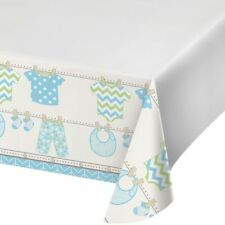 "BUNDLE OF JOY BOYS TABLE COVER 48""x 88"" BIRTHDAY PARTY TABLEWARE BABY SHOWER"