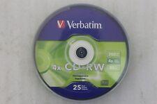 Verbatim CD-RW Disc 25er Pack Geschwindigkeit 4x 700MB/80mins überschreibbar NEU