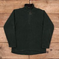 "Mens Vintage Patagonia Green Quarter Zip Fleece Sweatshirt USA Small 36"" R9679"