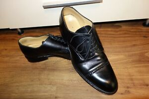 GREAT HESCHUNG , BLACK, LEATHER, SIZE UK 9.5 , US 10, EU 44  VERY GOOD CONDITION