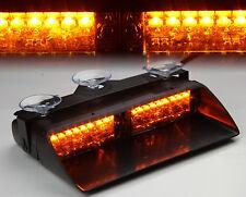 16 LED Car Police Windshield Flash Emergency Strobe Warning Light Amber Lamp 12V
