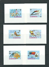 LIBERIA 1976 WINTER OLYMPICS (Scott 727-32) VF MNH DELUXE sheetlets