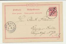 ALLEMAND EST AFRIQUE 1899 5PE on 10pF CARTE , Tanga à Leipzig (voir ci-dessous)