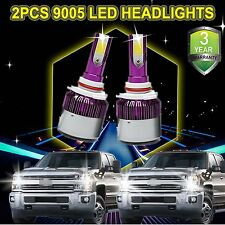 9005 HB3 CREE LED Headlight Bulbs for Chevy Silverado 1500 2500 3500 160W 6000K