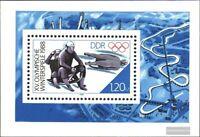 DDR Block90 (kompl.Ausg.) FDC 1988 Olympische Winterspiele / Bl.90