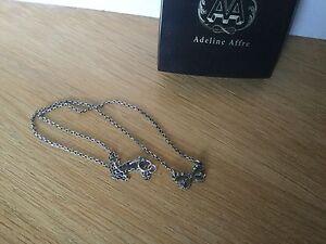 Collier Adeline Affre argent vieilli noeud strassé