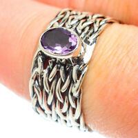 Amethyst 925 Sterling Silver Ring Size 8.25 Ana Co Jewelry R51178F