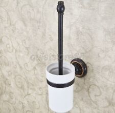 Bathroom Series Oil Rubbed Bronze Wall Mounted Toilet Brush Holder Sets qba219
