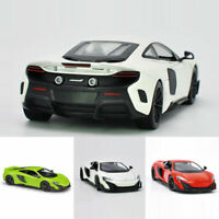 McLaren 675LT 1:24 Scale Model Car Metal Diecast Vehicle Toy Collection Gift