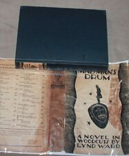 Mad Man's Drum: A Novel in Woodcuts by Lynd Ward 1930 Graphic Novel dust jacket