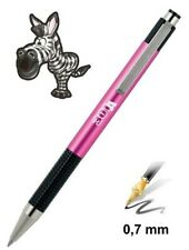 Zebra F-301A pink ball point pen. Blue ink. Free shipping! NEW!