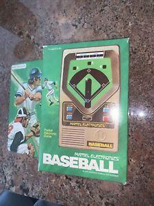 1978 MATTEL Electronics Baseball Vintage Handheld Arcade Game and Box ✨WORKS!!✨