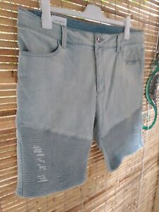 Mens Saint Morta Denim Shorts Size 38 Pale Blue