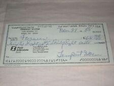 More details for rare signed cheque ! tempest storm exotic dancer burlesque queen unique vg cond