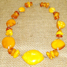 Amazing Baltic Amber Butterscotch Egg Yolk 59 gr. Collectibles Beads Necklace 32