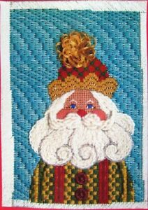 Needlepoint Pattern LIBBY STURDY The Checker Santa Patch/Canvas-IW67
