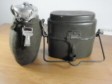 Army Soldiers Tin Water Canteen Bottle and Mees Kit set
