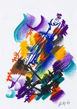FILIPPO AUTI (1934-2007) Dipinto Disegno Tecnica Mista su Carta EPOCA opera 1999
