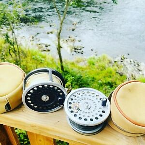 Hardy Marquis Salmon Number 3 Reel with Spare Spool Cases & Spey Fly Lines