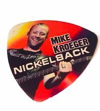 Nickelback guitar pick live concert Mike Chad Kroeger rock music memorabilia Az1