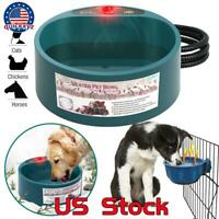 Heated Warm Water & Food Pet Bowl Automatic Constant Temperature Cat Dog Basin