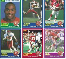1989 Score & Score Supplemental Kansas City Chiefs Team Set