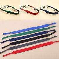2x Silikon Glasses Strap NeckCord Brillen Band Sonnenbrille SportSeil Schnu E1Y5