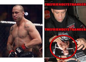 "WANDERLEI SILVA signed Autographed ""UFC"" 8X10 PHOTO c EXACT PROOF Axe Murder COA"