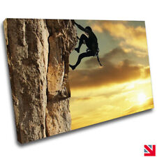 Rock Climbing Extreme Sports Fitness Gym CANVAS Wall Art Picture Print