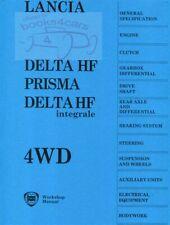 LANCIA INTEGRALE SHOP MANUAL SERVICE REPAIR DELTA HF WORKSHOP BOOK PRISMA