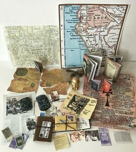 "1:6 Scale Custom Indiana Jones Grail Diary, Gold Idol Lot ROTLA and TLC for 12"""