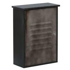 Parete montato bagno Storage cabinet single door NERO / GRIGIO METAL BRAND NEW