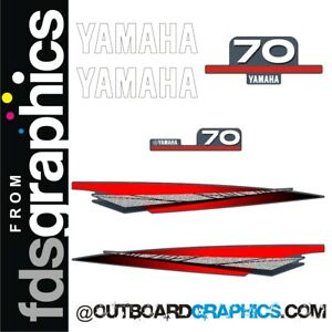 Yamaha 70hp 2 stroke outboard engine decals/sticker kit
