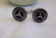 New Business suit Mercedes Benz Cuff Links brass/copper Silver colour