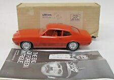 1970 FORD MAVERICK orange 1/25 dealer promotional model BOX & brochure p1