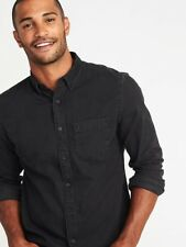 Old Navy Slim-Fit washed Black Denim Shirt for Men sz XL NWT RRP$70