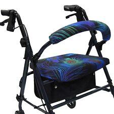 Peacock Rollator Walker Covers Accessories for Seat Backrest Crutcheze CRU0779
