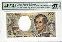 France PMG Certified Banknote 1989 200 Francs UNC 67 EPQ Superb Gem Pick 155c