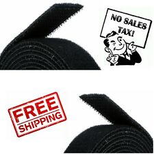 Sticky Back Tape Adhesive Hook Loop 15'x3/4'' Black Velcro Brand Waterproof Self