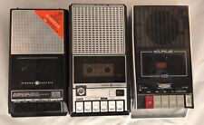 Lot of 3 Vintage Portable Cassette Player Recorders GE Superscope For Parts