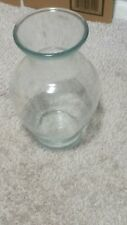Glass vase for flowers; EUROPA Large round clear vase;  nice shape