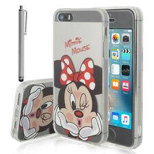 Custodia Cover TPU Silicone Ultra-sottile Minnie Mouse Apple iPhone 5 /5SE/ SI