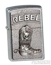 REBEL Cowboy Boots Street Chrome EMBLEM ZIPPO neu+ovp
