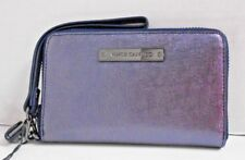 "A4309 New Vince Camuto ""ViVi"" Indexer Wristlet Deep Cobalt Zip-Around Wallet"