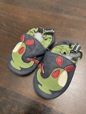 Helicopter Tommy Tickle Crib Baby Shoes Boys Soft Sole Leather Small 0-6 Months