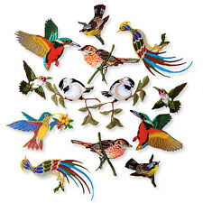 Humming Birds Phoenix Kingfisher Iron Sew on Appliques Embroidered Patches Craft