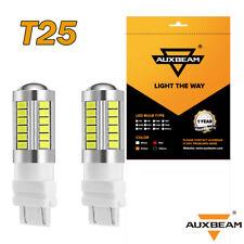 AUXBEAM 3157 T25 P27 33SMD 5730 Led Reverse Brake Stop Light Bulbs  White 6000K