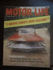 Motor Life Magazine October 1959 Ford Falcon 1960 Pontia in Action (VV) FF