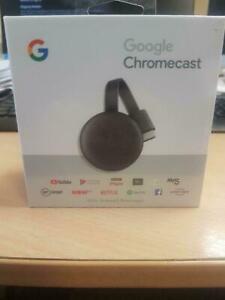 Google Chromecast 3rd Gen 1080p HDMI Internet Media Streaming Device Sealed Box
